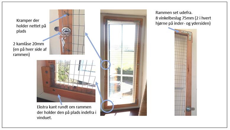 Net foran dør og vinduer
